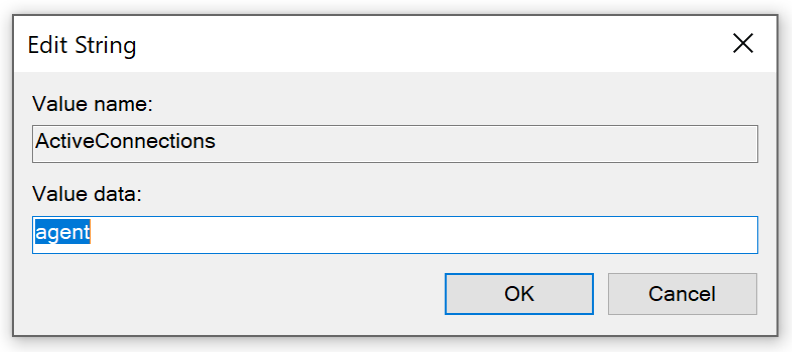 Screenshot of the dialog box: Edit string